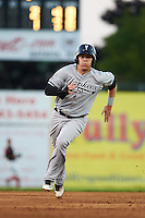 Staten Island Yankees third baseman Billy Fleming (20) running the bases during a game against the Batavia Muckdogs on August 26, 2016 at Dwyer Stadium in Batavia, New York.  Staten Island defeated Batavia 6-2.  (Mike Janes/Four Seam Images)