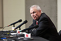 March 9, 2014: Bo Ryan the head coach of the Wisconsin Badgers in the press conference after losing to Nebraska at the Pinnacle Bank Arena, Lincoln, NE. Nebraska 77 Wisconsin 68.