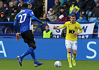 Blackburn Rovers' Joe Rothwell takes on Sheffield Wednesday's Dominic Iorfa<br /> <br /> Photographer David Shipman/CameraSport<br /> <br /> The EFL Sky Bet Championship - Sheffield Wednesday v Blackburn Rovers - Saturday 16th March 2019 - Hillsborough - Sheffield<br /> <br /> World Copyright &copy; 2019 CameraSport. All rights reserved. 43 Linden Ave. Countesthorpe. Leicester. England. LE8 5PG - Tel: +44 (0) 116 277 4147 - admin@camerasport.com - www.camerasport.com