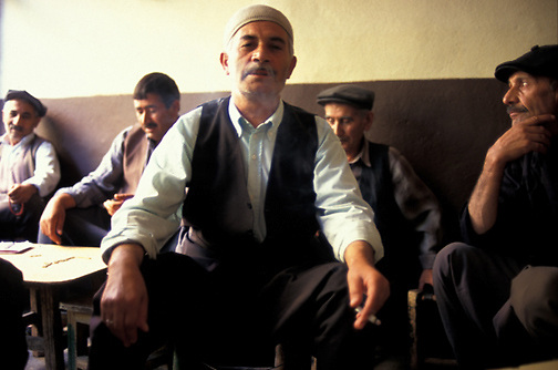 Men spend the afternoon in a teahouse in the city of Diyarbakir in southeast Turkey. (Photo © September 1996 Pico van Houtryve)