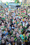 27-9-2014: A large crowd at the Kerry Team homecoming in Rathmore, County Kerry last evening.<br /> Picture by Don MacMonagle
