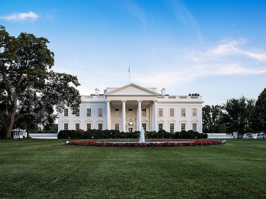 The White House, home of the United States President, Washington D.C., USA