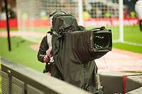 TV cameras working during 2014-15 La Liga match between Real Madrid and Deportivo de la Coruna at Santiago Bernabeu stadium in Madrid, Spain. February 14, 2015. (ALTERPHOTOS/Luis Fernandez) /NORTEphoto.com