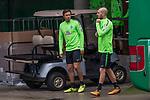 08.09.2017, Weserstadion, Bremen, GER, 1.FBL, Training SV Werder Bremen<br /> <br /> im Bild<br /> Max Kruse (Werder Bremen #10), Luca Caldirola (Werder Bremen #3), <br /> <br /> Foto &copy; nordphoto / Ewert