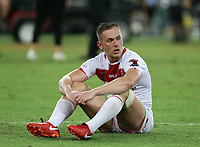 England's Ben Currie is dejected after they lost the Rugby League World Cup final between Australia and England, Suncorp Stadium, Brisbane, Australia, 2 December 2017. Copyright Image: Tertius Pickard / www.photosport.nz MANDATORY CREDIT/BYLINE : Tertius Pickard/SWpix.com/PhotosportNZ