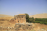 Israel, Upper Galilee, ruins of Khan Jub Yusuf from the Mamluk period
