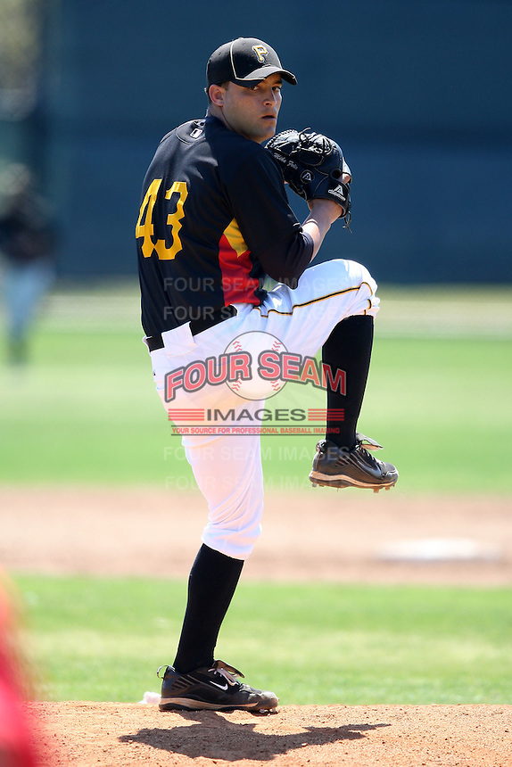 April 2, 2010:  Pitcher Mike Felix of the Pittsburgh Pirates organization during Spring Training at the Carpenter Complex in Clearwater, FL.  Photo By Mike Janes/Four Seam Images