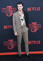 "28 June 2019 - Santa Monica, California - Joe Keery. ""Stranger Things 3"" Los Angeles Premiere held at Santa Monica High School. Photo Credit: Birdie Thompson/AdMedia"