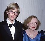 Bette Davis with her grandson during the Film Advisory Board Dinner at Beverly Hilton Hotel on April 3, 1982 in Los Angeles, California