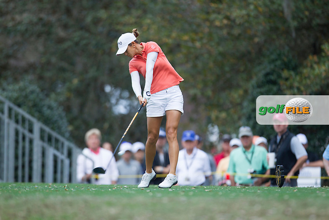 Azahara Munoz tee's off during the First round of the LPGA Coates Golf Championship 2016 , from the Golden Ocala Golf and Equestrian Club, Ocala, Florida. 3/2/16<br /> Picture: Mark Davison | Golffile<br /> <br /> <br /> All photos usage must carry mandatory copyright credit (&copy; Golffile | Mark Davison)