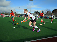 Action from the National Women's Association Under-18 Hockey Tournament 9th place playoff match between Wairarapa and North Harbour at Twin Turfs in Clareville, New Zealand on Saturday, 15 July 2017. Photo: Dave Lintott / lintottphoto.co.nz