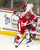 Michael Matheson (BC - 5), Danny O'Regan (BU - 10) - The Boston College Eagles defeated the visiting Boston University Terriers 5-2 on Saturday, December 1, 2012, at Kelley Rink in Conte Forum in Chestnut Hill, Massachusetts.