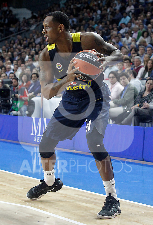 Fenerbahce Istambul's James Nunnally during Euroleague, Regular Season, Round 29 match. March 31, 2017. (ALTERPHOTOS/Acero)