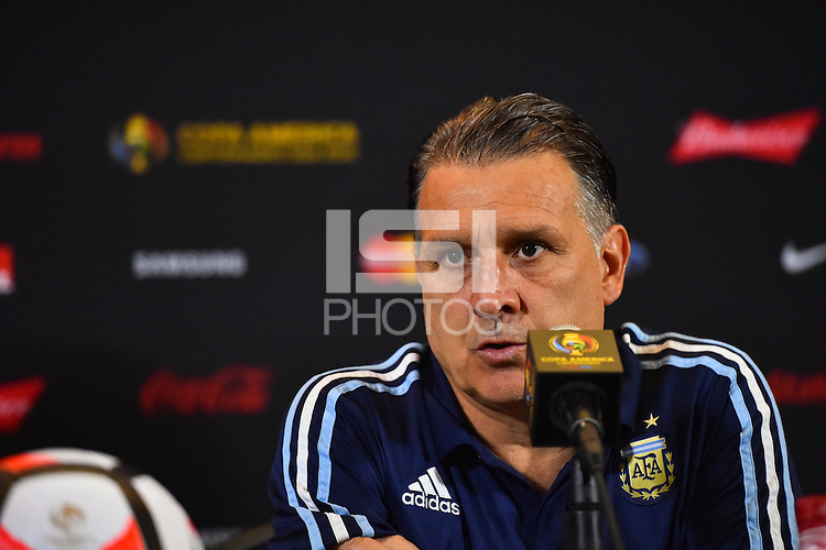 Foxborough, MA - Saturday June 18, 2016: Gerardo Martino after a Copa America Centenario quarterfinal match between Argentina (ARG) and Venezuela (VEN)  at Gillette Stadium.