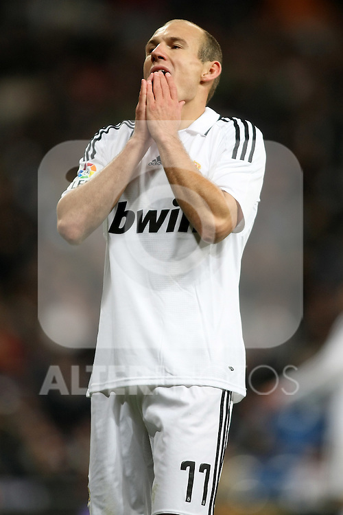 Real Madrid's Arjen Robben during La Liga match.January 18 2009. (ALTERPHOTOS/Acero).