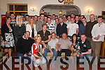 21st: Celebrating his birthday in Darby OGills, Killarney, on Saturday evening was Aodhan ODonoghue of Headford, Killarney (seated centre), along with family and friends..