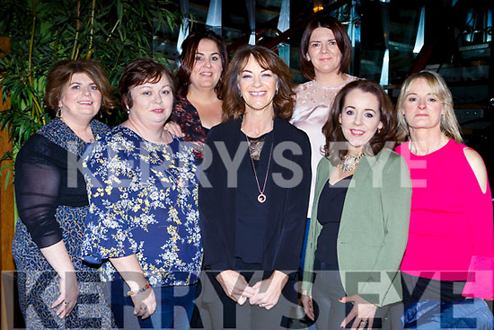 Josephine Haddock Ballylongford was out to celebrated her pla Marie Corbett 40th birthday in the Lane bar restaurant on Saturday night l-r: Gerry Casey, Josephine Haddock, Marian King, Anna Barrett, Marie Corbett, Eilee Burke, and Bernie Land