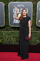 Actor Debra Messing attends the 75th Annual Golden Globes Awards at the Beverly Hilton in Beverly Hills, CA on Sunday, January 7, 2018.<br /> *Editorial Use Only*<br /> CAP/PLF/HFPA<br /> &copy;HFPA/Capital Pictures
