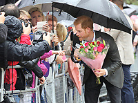 AUG 30 Princes William & Harry leave tribute to mother, Princess Diana