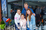 Sisters Megan, Emma  and Edel with Dad Billy O'Rourkd pictured last Saturday at the opening of Dick Dalton's - Garden & Tools Supplies in Abbeyfeale