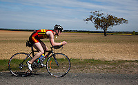 16 MAY 2010 - LYDD, GBR - Nick Fidler - The Marshman Triathlons .(PHOTO (C) NIGEL FARROW)