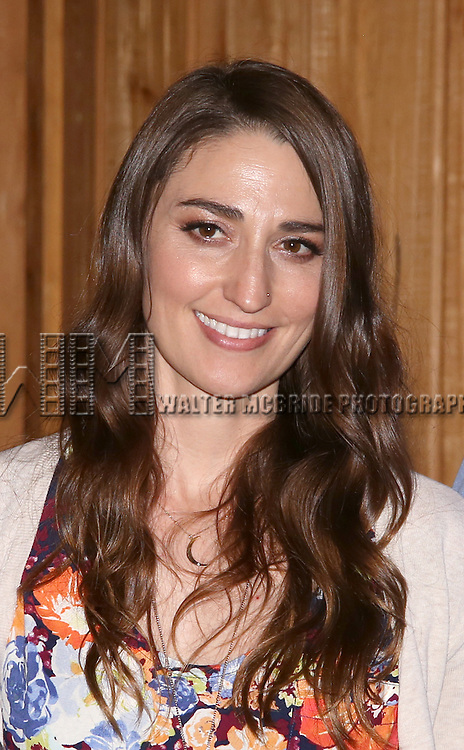 Sara Bareilles attends the 'Waitress' Broadway cast recording at MSR Studios on May 2,, 2016 in New York City.