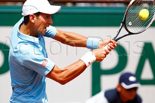 08.06.2014. Roland Garros, Paris, France. French Open Tennis Championships. Mens singles final. Rafael Nadal versus Novak Djokovic.  Novak Djokovic (SER)