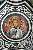 Barolomew,cross-vault paintings,crypt,AD 955,Osios Loukas Monastery,Greece