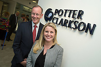 Pictured is Potter Clarkson's Practice Director Andrew Argyle with Emma McClarkin of East Midlands Conservatives