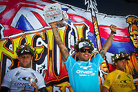 SUNSET BEACH, Oahu/Hawaii (Thursday, December 2, 2010) - Brazilian Raoni Monteiro (BRA) became the first Brazilian in 20 years to take out the Men's division of the O'Neill World Cup of Surfing today. Julian Wilson (AUS) who won the Rookie of the Triple Crown and is leading the Triple Crown ratings finished in 2nd with Granger Larsen (HAW) in 3rd and  Josh Kerr (AUS) in 4th .Contest  Wildcard Tyler Wright (AUS), 16,  won the O'Neill Women's World Cup of Surfing, topping Sunset Beach local Coco Ho (HAW), 19, reigning four-time ASP Women's World Champion Stephanie Gilmore (AUS), 22, and ASP Women's World Tour No. 2 Sally Fitzgibbons (AUS), 19, in two-to-four foot (1 metre) surf at Sunset Beach. Wright was also named Women's Rookie of the Triple Crown..Photo: joliphotos.com