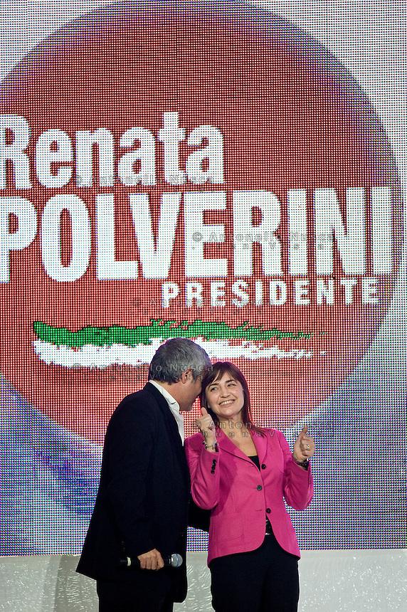 Roma, 26 Marzo, 2010. Renata Polverini alla chiusura della suacampagna elettorale per le elezioni regionali.