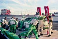 #26 Buick of Brett Bodine pit stop Atlanta Journal 500, Atlanta Motor Speedway, Hampton, GA, November 18, 1990. (Photo by Brian Cleary/bcpix.com)