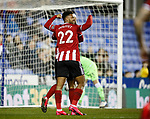 Lys Mousset of Sheffield Utd helps David McGoldrick of Sheffield Utd celebrate his goal during the FA Cup match at the Madejski Stadium, Reading. Picture date: 3rd March 2020. Picture credit should read: Simon Bellis/Sportimage