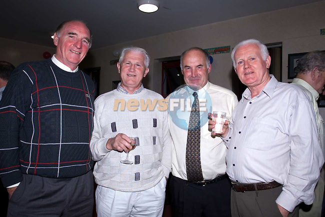 Steve Faughnan, Jerry Clifford, Mick Finnagan and pat O'Boyle at the Det. Garda Mick Fanning retirement party in the Drogheda garda Station..Picture Fran Caffrey Newsfile