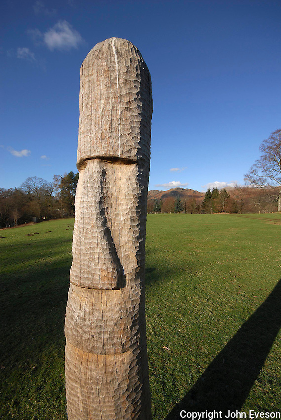 Kate's sculpture at Skelwith Fold, Cumbria.