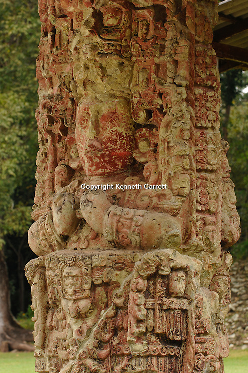 Maya rise and Fall; Copan; Honduras; Stela, Stela C, 18 Rabbit,  Mayan; Maya; Ancient Cultures