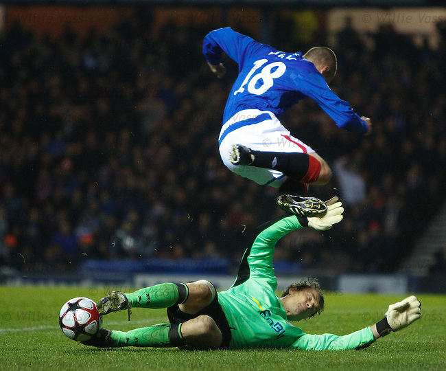 Kenny Miller sent flying by Jens Lehmann