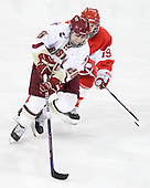 Jessica Martino (BC - 26), Jenelle Kohanchuk (BU - 19) - The Boston College Eagles defeated the Boston University Terriers 2-1 in the opening round of the Beanpot on Tuesday, February 8, 2011, at Conte Forum in Chestnut Hill, Massachusetts.