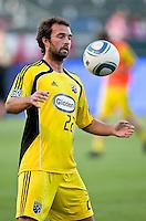 Columbus Crew midfielder Adam Moffat (22)