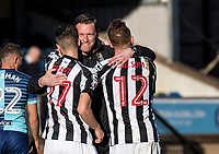 Kevin Nolan manager of Notts County is all smiles at the final whistle during the Sky Bet League 2 match between Wycombe Wanderers and Notts County at Adams Park, High Wycombe, England on the 25th March 2017. Photo by Liam McAvoy.