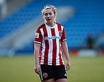 Maddy Cusack of Sheffield Utd during the The FA Women's Championship match at the Proact Stadium, Chesterfield. Picture date: 8th December 2019. Picture credit should read: Simon Bellis/Sportimage