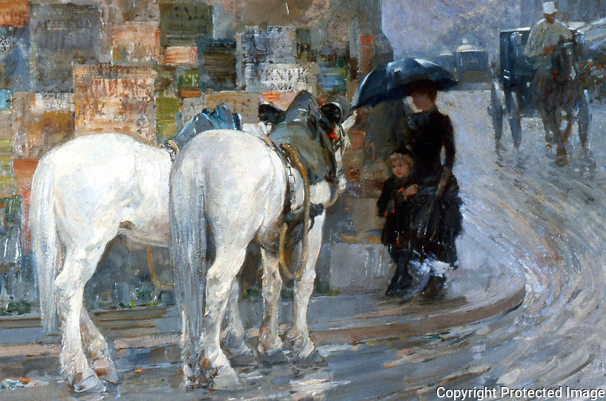 American Painters:  Frederick Childe Hassam--Paris Street Scene.  Huntington Library Art Collections and Botanical Gardens.