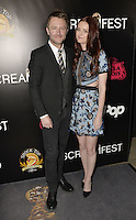 HOLLYWOOD,CA - OCTOBER 18: Chris Harwick and Lydia Hearst attend the TRASH FIRE / Screamfest red carpet at TCL Chinese Theater in Hollywood, California on October 18, 2016. Credit: Koi Sojer/Snap'N U Photos /MediaPunch
