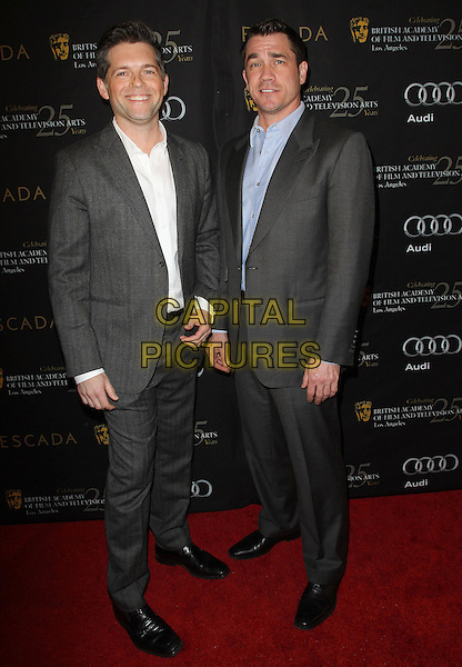 Brunson Green and Tate Taylor.18th Annual BAFTA Los Angeles Awards Season Tea Party held at the Four Seasons Hotel, Beverly Hills, California, USA..January 14th, 2012.full length grey gray suit white blue shirt.CAP/ADM/KB.©Kevan Brooks/AdMedia/Capital Pictures.