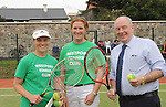 Anyone for Tennis&hellip;pictured at the official opening of the upgraded courts at Westport Tennis Club were Emma Buckley, Mary Ward Club Chairperson  and Minister of State at the Department of Rural affairs Michael Ring TD. <br />