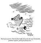 'Don't give up now. Paté de foie truffé, fricassée de veau Normandie, pommes vapeurs, petits pois françaises...'