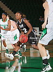 Troy Trojans guard DeAngela Sword (22) in action during the game between the Troy Trojans and the University of North Texas Mean Green at the North Texas Coliseum,the Super Pit, in Denton, Texas. UNT defeats Troy 57 to 36.....