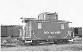 Short caboose #0524.<br /> D&amp;RGW  Gunnison, CO  Taken by Maxwell, John W. - 9/18/1948