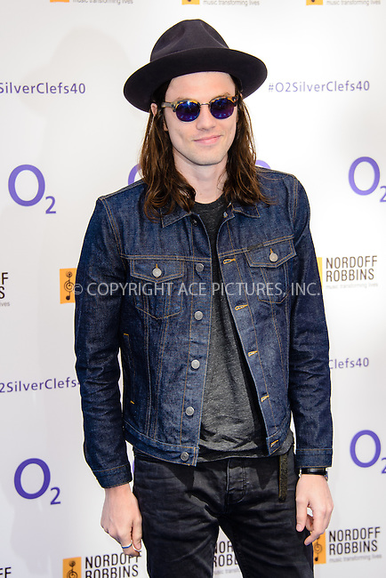 WWW.ACEPIXS.COM<br /> <br /> July 3 2015, London<br /> <br /> James Bay arriving at the Nordoff Robbins O2 Silver Clef Awards at the Grosvenor House Hotel on July 3 2015 in London. <br /> <br /> By Line: Famous/ACE Pictures<br /> <br /> <br /> ACE Pictures, Inc.<br /> tel: 646 769 0430<br /> Email: info@acepixs.com<br /> www.acepixs.com