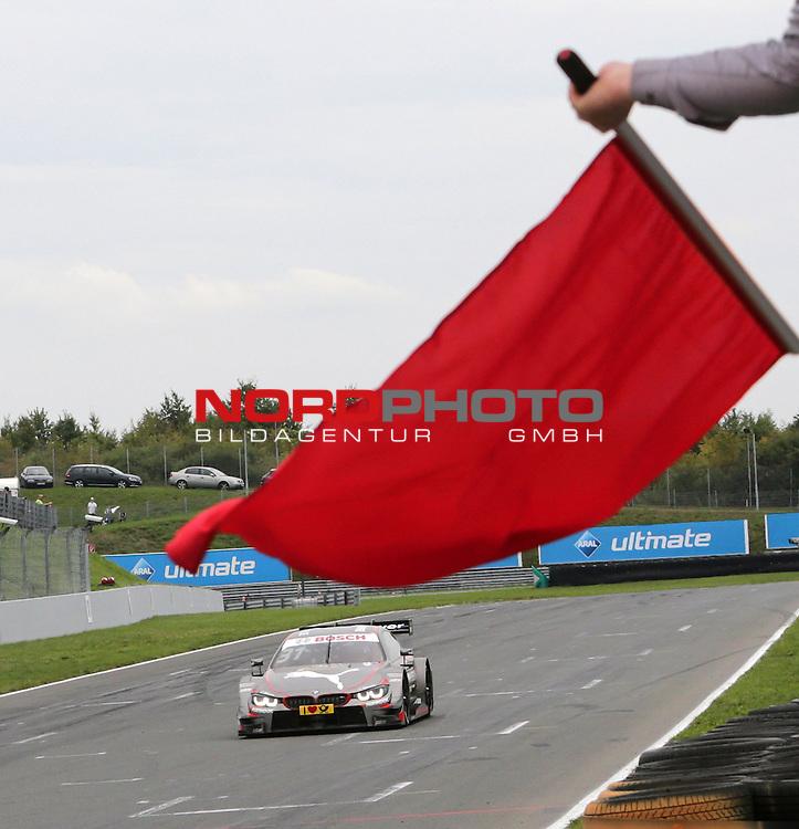 DTM 2015, 07.Lauf Oschersleben, 11.09. - 13.09.15 <br /> Tom Blomqvist (SWE#31) BMW Team RBM BMW M4 DTM gewinnt sein erstes DTM Rennen mit Abbruch durch roter Flagge<br /> <br /> <br /> <br /> <br /> <br /> Foto &copy; nordphoto /  Bratic